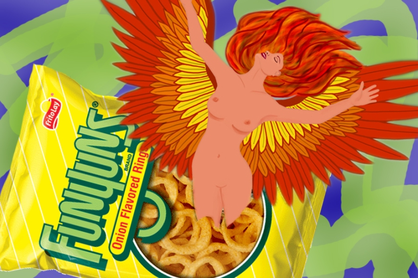 Like a phoenix out of the Funyuns crumbs...